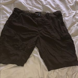 Brown Basic Edition Cargo Swim Shorts Trunks